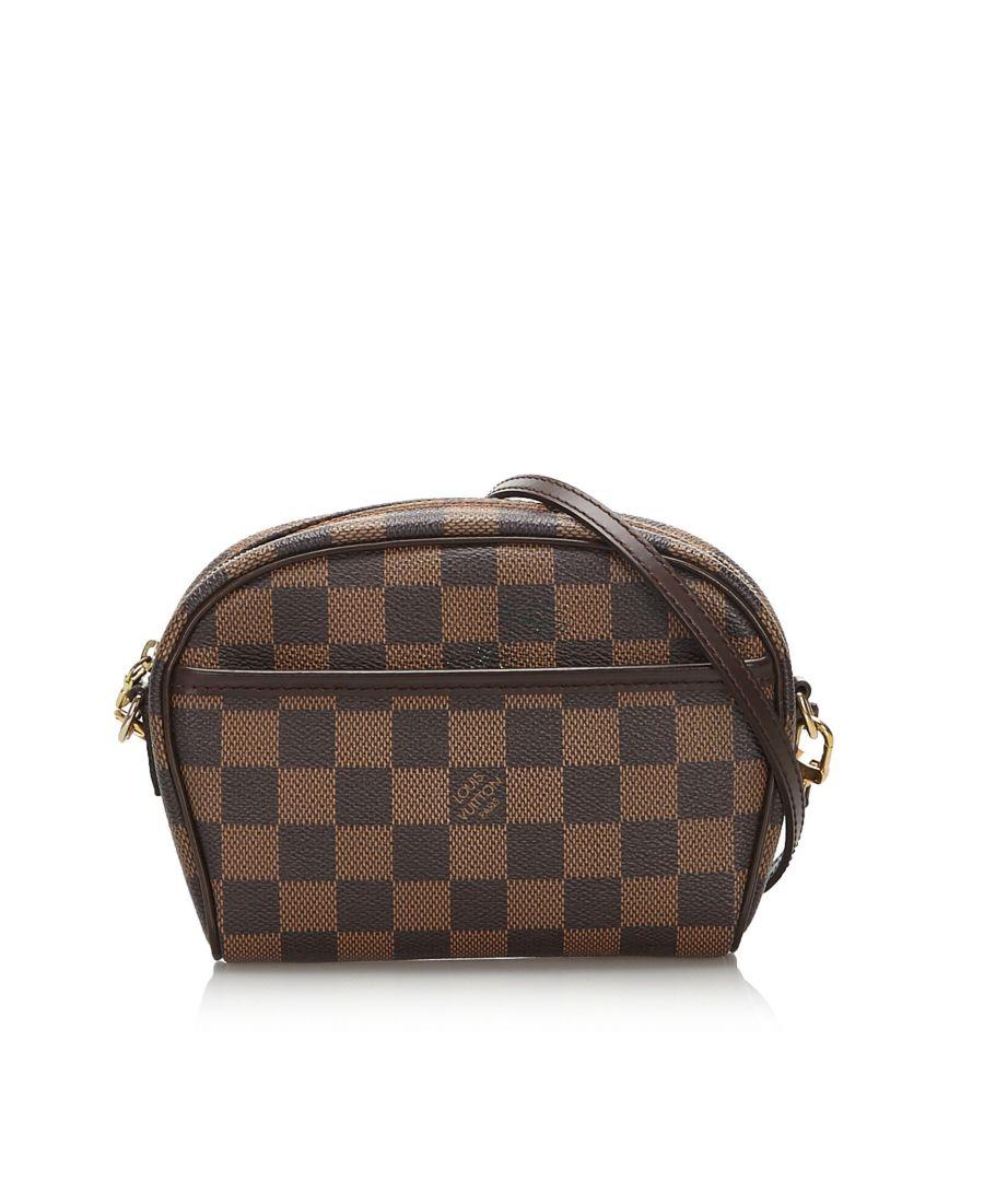 Image for Vintage Louis Vuitton Damier Ebene Ipanema Pochette Brown