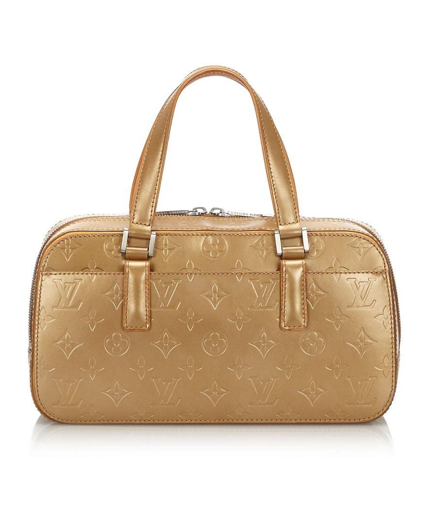Image for Louis Vuitton Monogram Glace Shelton Gold