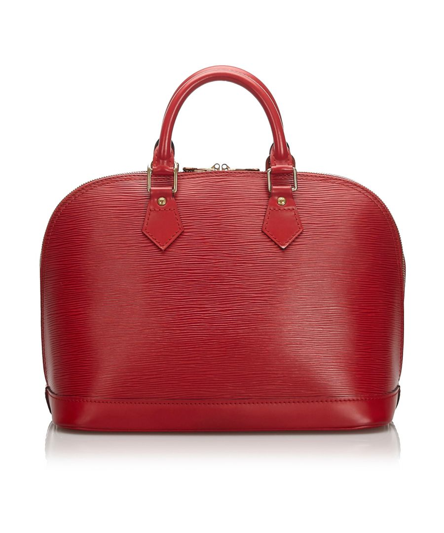 Image for Louis Vuitton Epi Alma PM Red
