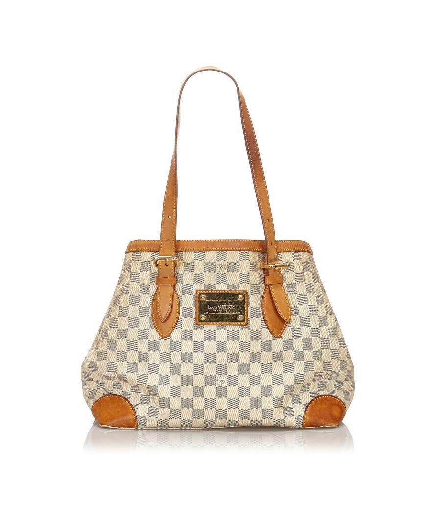 Image for Vintage Louis Vuitton Damier Azur Hampstead PM White