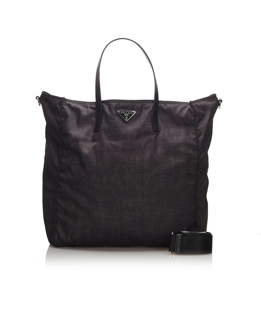 Image for Prada Nylon Tote Bag Black