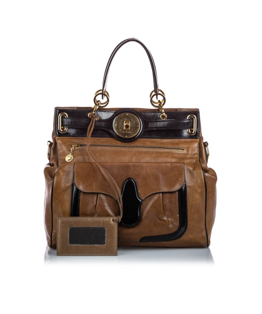 Image for Vintage Balenciaga Leather Lune Tote Brown