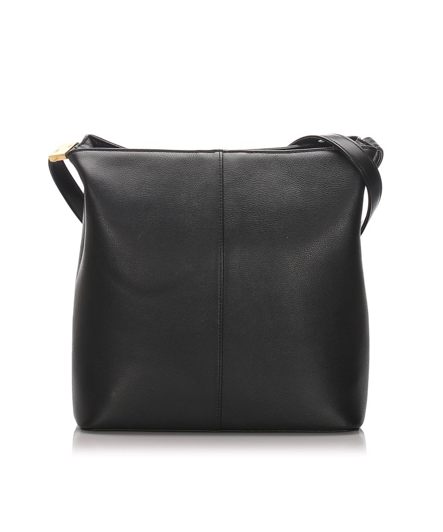 Image for Burberry Leather Crossbody Bag Black
