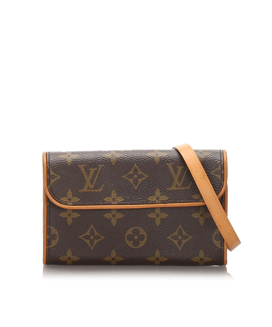 Image for Vintage Louis Vuitton Monogram Florentine Pochette Brown
