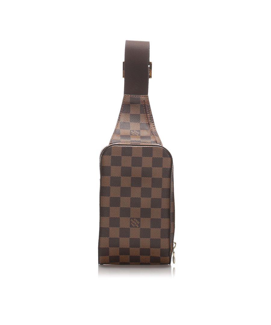 Image for Louis Vuitton Damier Ebene Geronimos Brown