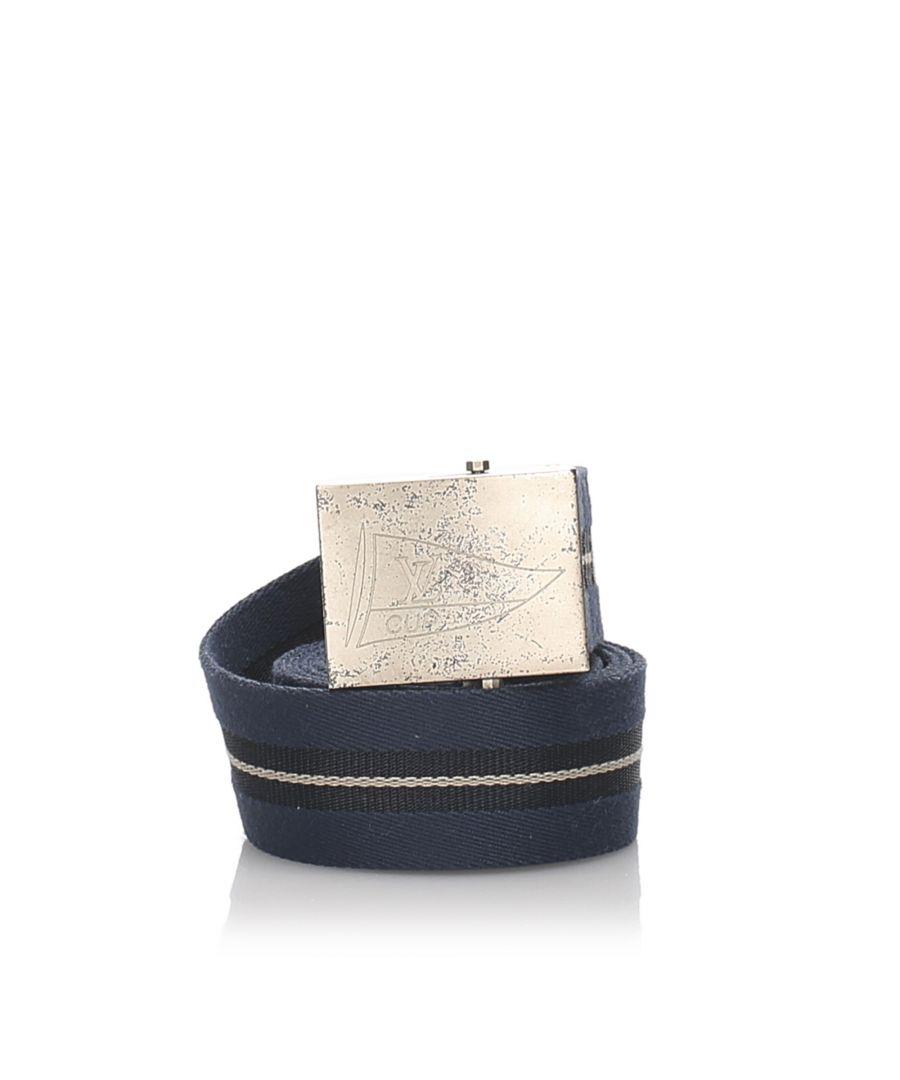 Image for Vintage Louis Vuitton LV Cup Belt Blue