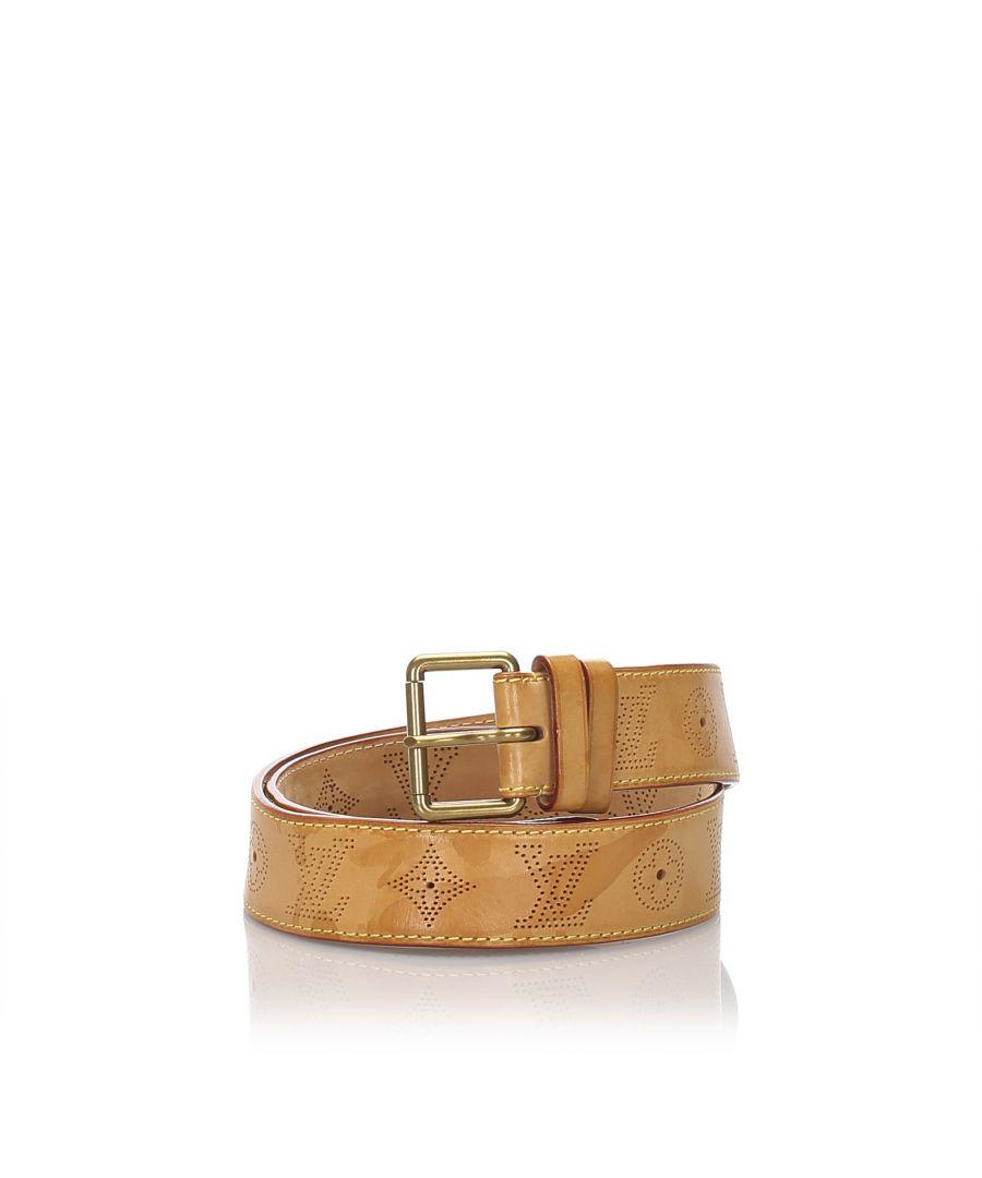 Image for Louis Vuitton Vachetta Mahina Belt Brown