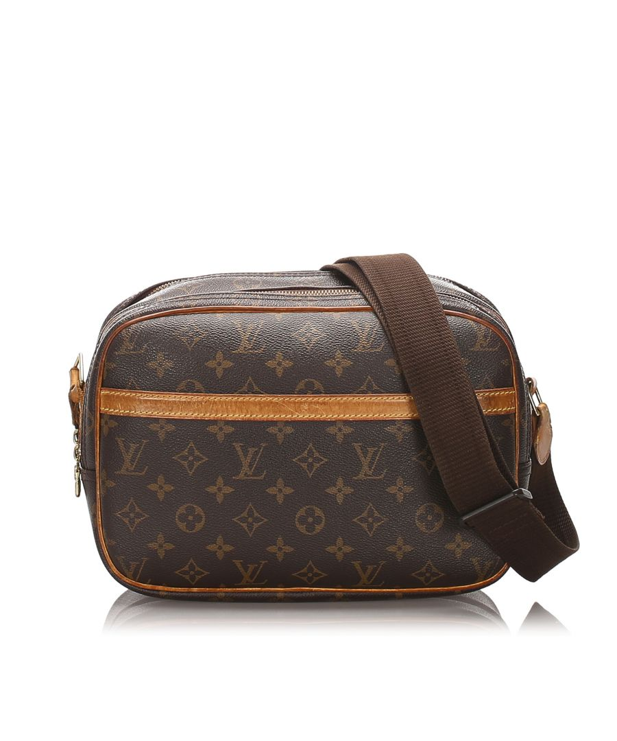 Image for Vintage Louis Vuitton Monogram Reporter PM Brown