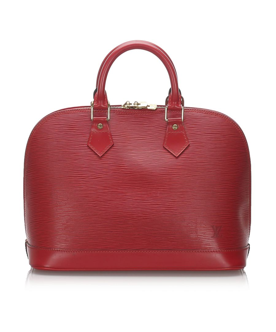 Image for Vintage Louis Vuitton Epi Alma PM Red