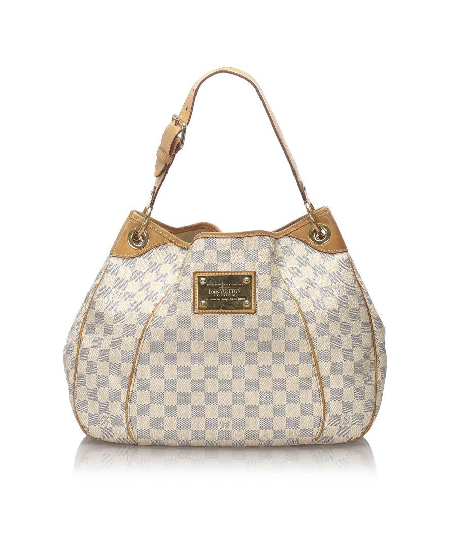 Image for Vintage Louis Vuitton Damier Azur Galliera PM White