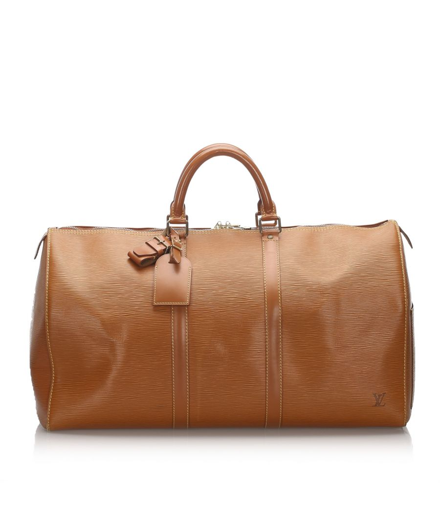 Image for Vintage Louis Vuitton Epi Keepall 55 Brown