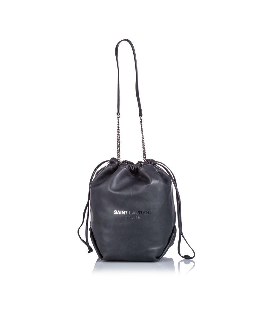 Image for Vintage YSL Teddy Bucket Bag Black