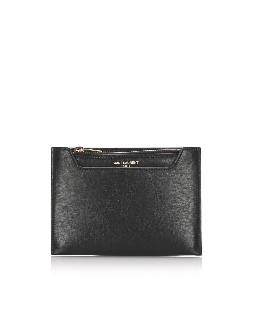 Image for Vintage YSL Leather Coin Pouch Black