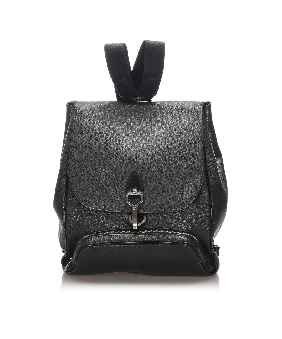 Image for Louis Vuitton Taiga Leather Cassiar Backpack Black