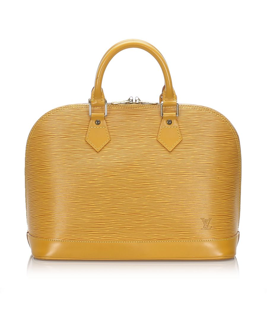 Image for Vintage Louis Vuitton Epi Alma PM Yellow