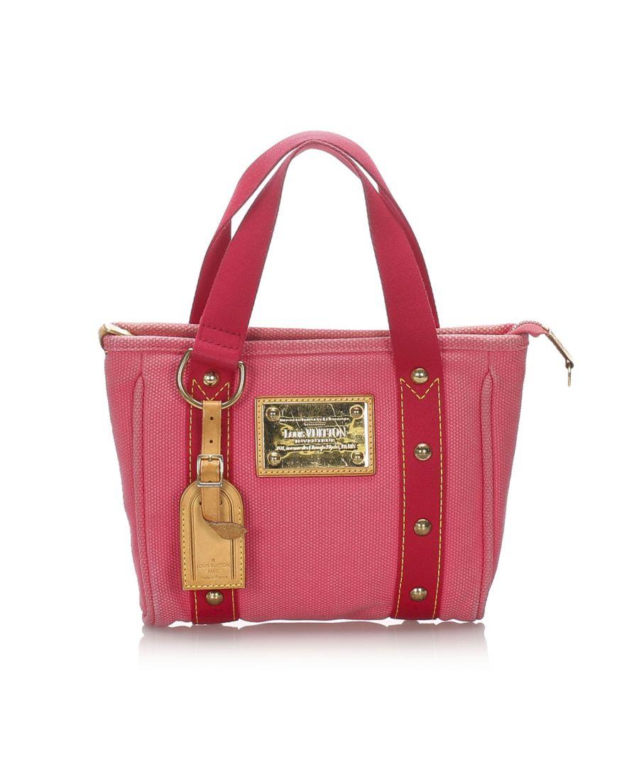 Image for Vintage Louis Vuitton Antigua Cabas PM Pink