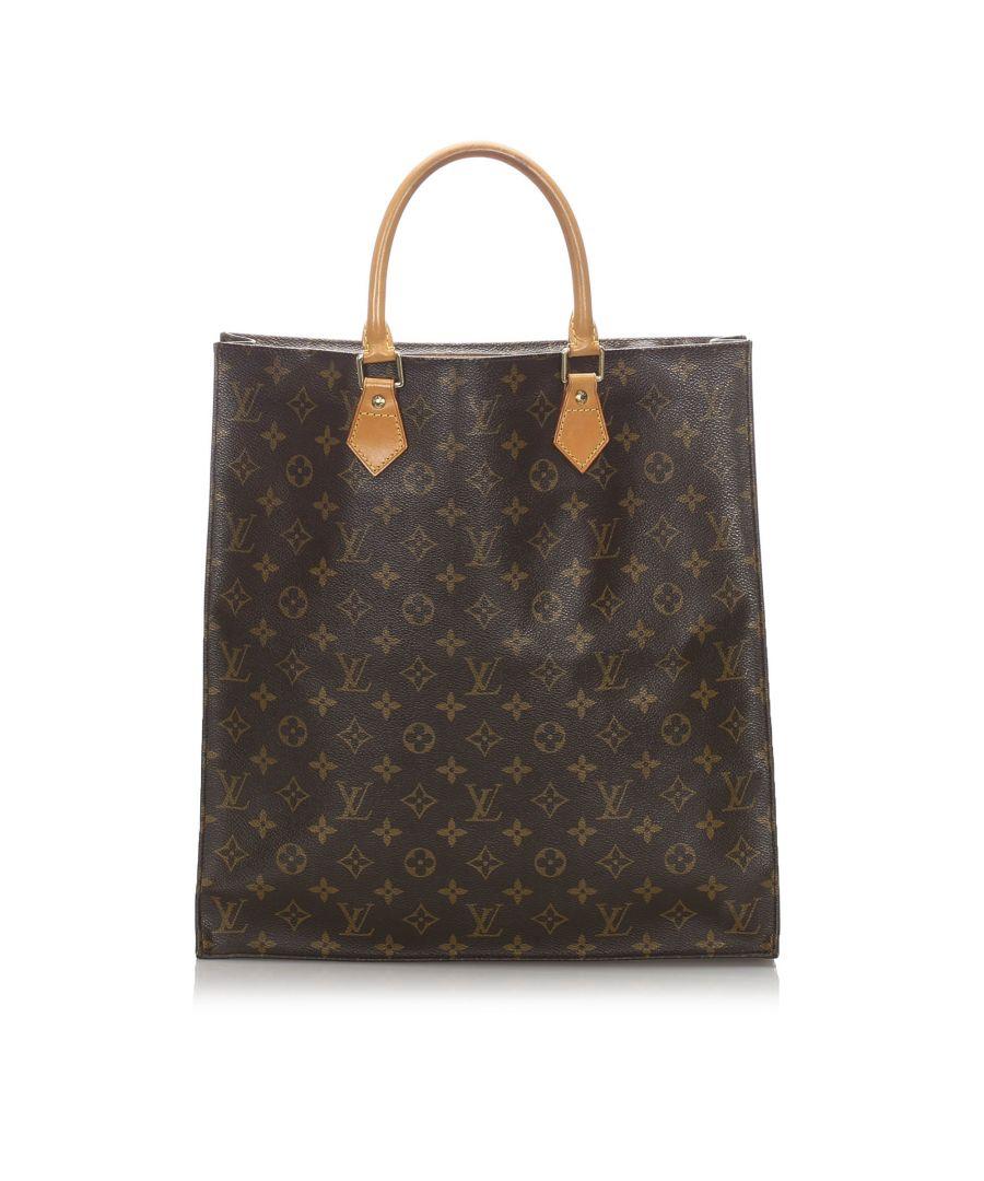 Image for Louis Vuitton Monogram Sac Plat Brown