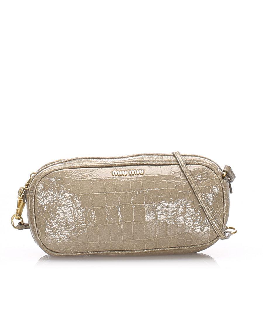 Image for Vintage Miu Miu Leather Shoulder Bag Brown
