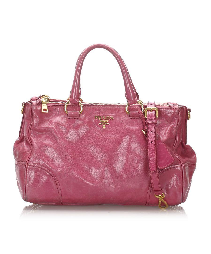 Image for Vintage Prada Vitello Shine Satchel Pink