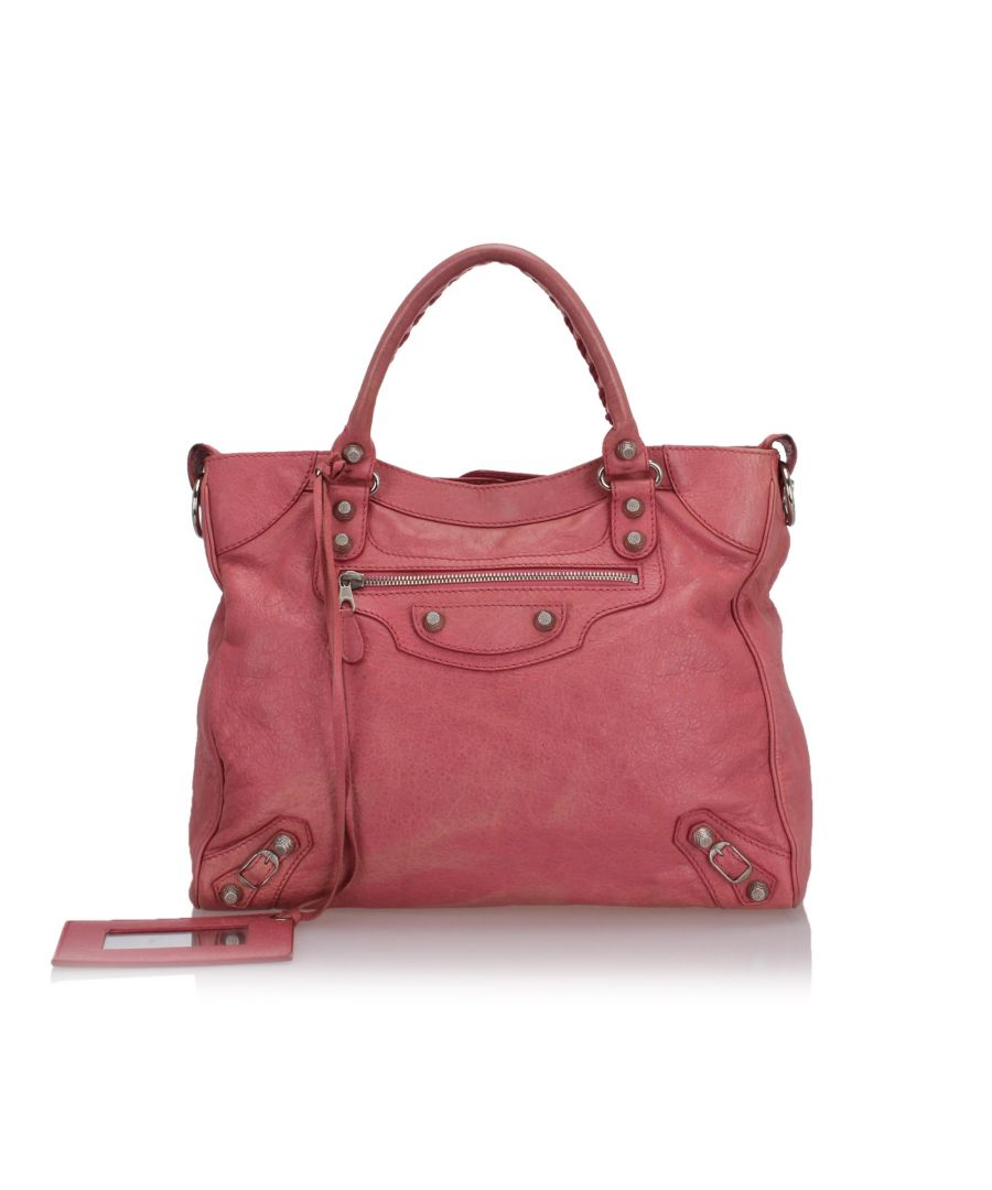 Image for Balenciaga Motocross Giant Velo Satchel Pink