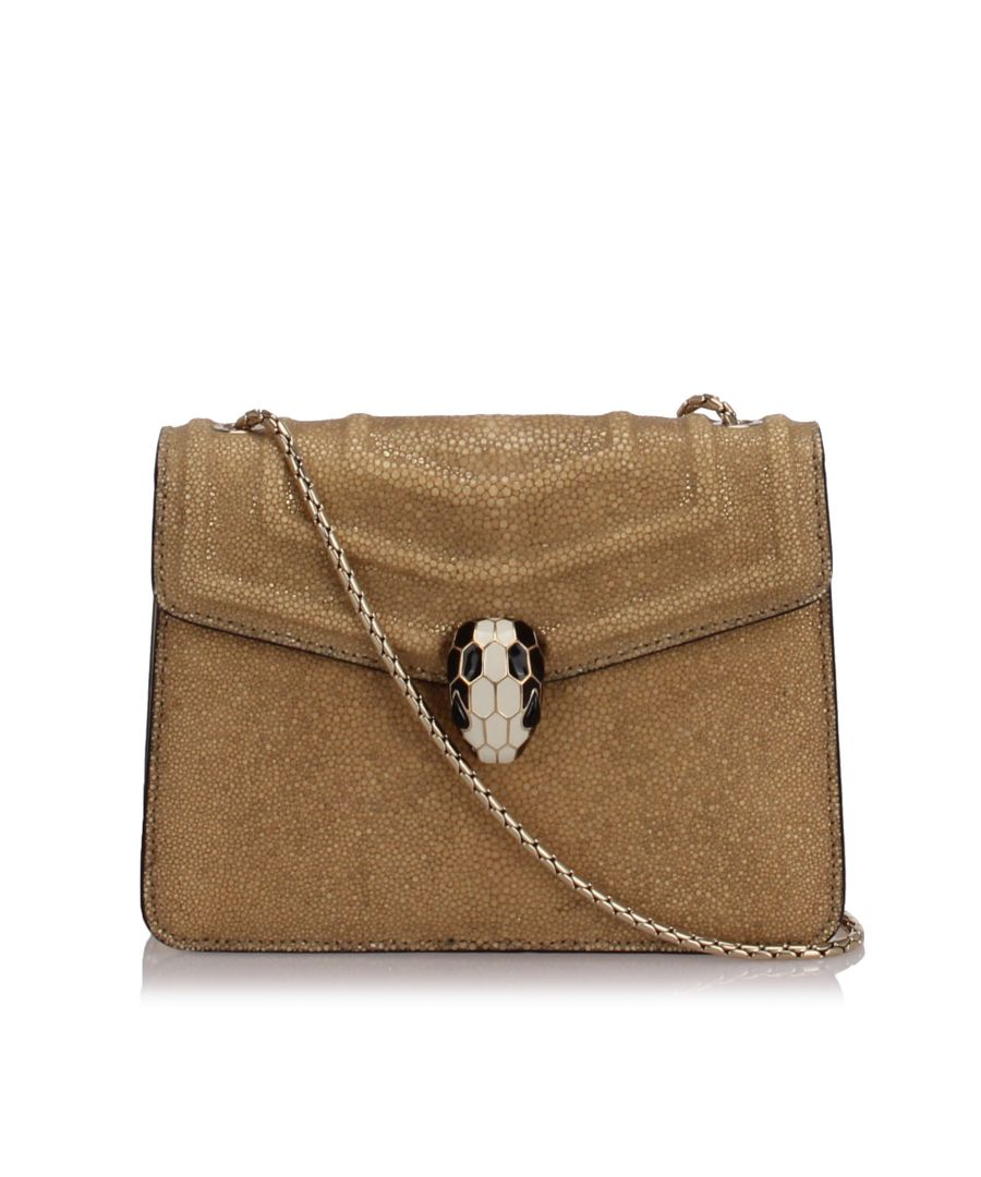 Image for Bvlgari Serpenti Forever Crossbody Bag Brown