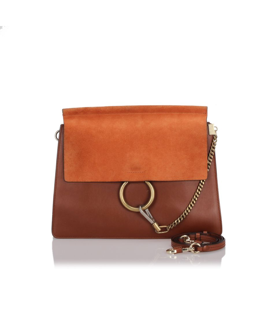 Image for Chloe Leather Faye Shoulder Bag Brown