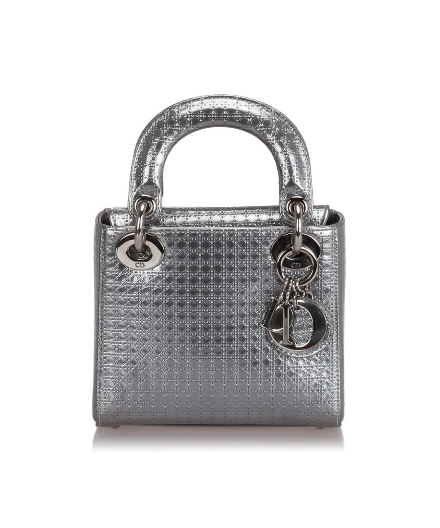 Image for Dior Micro Cannage Lady Dior Silver