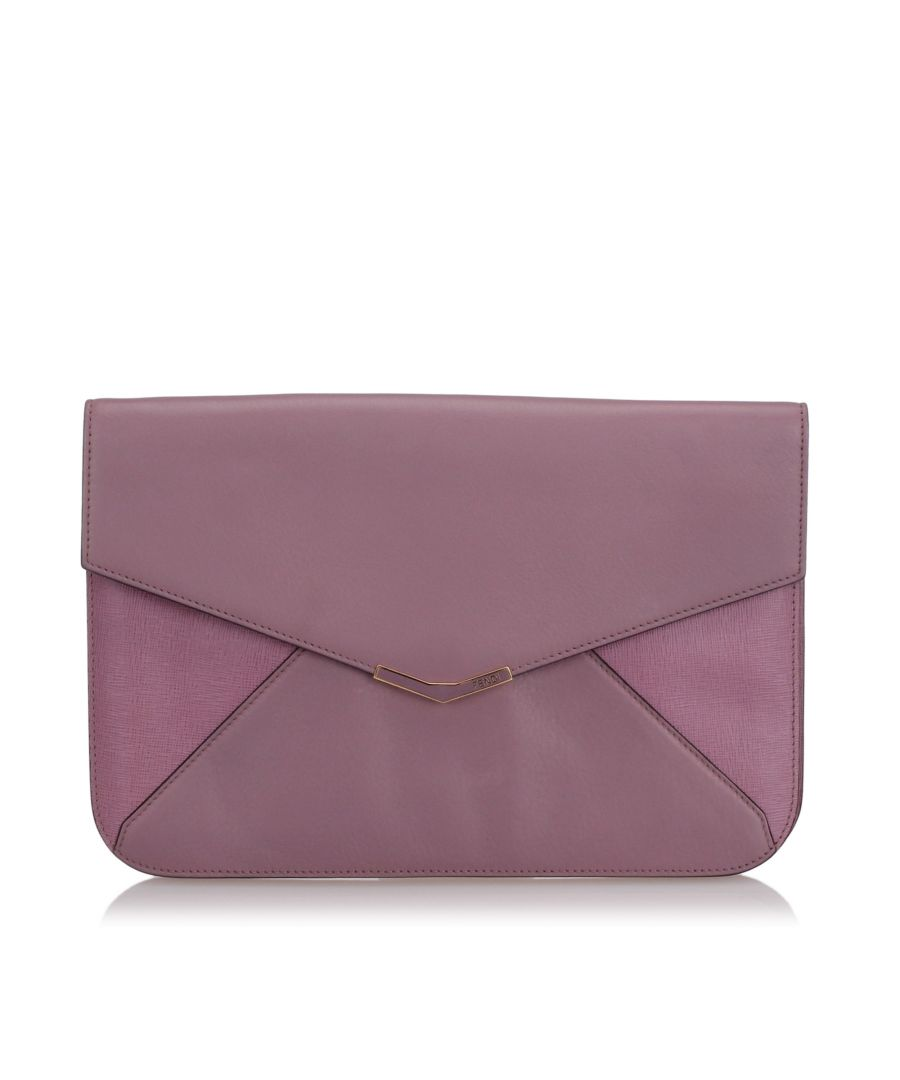 Image for Fendi 2Jours Envelope Clutch Bag Pink