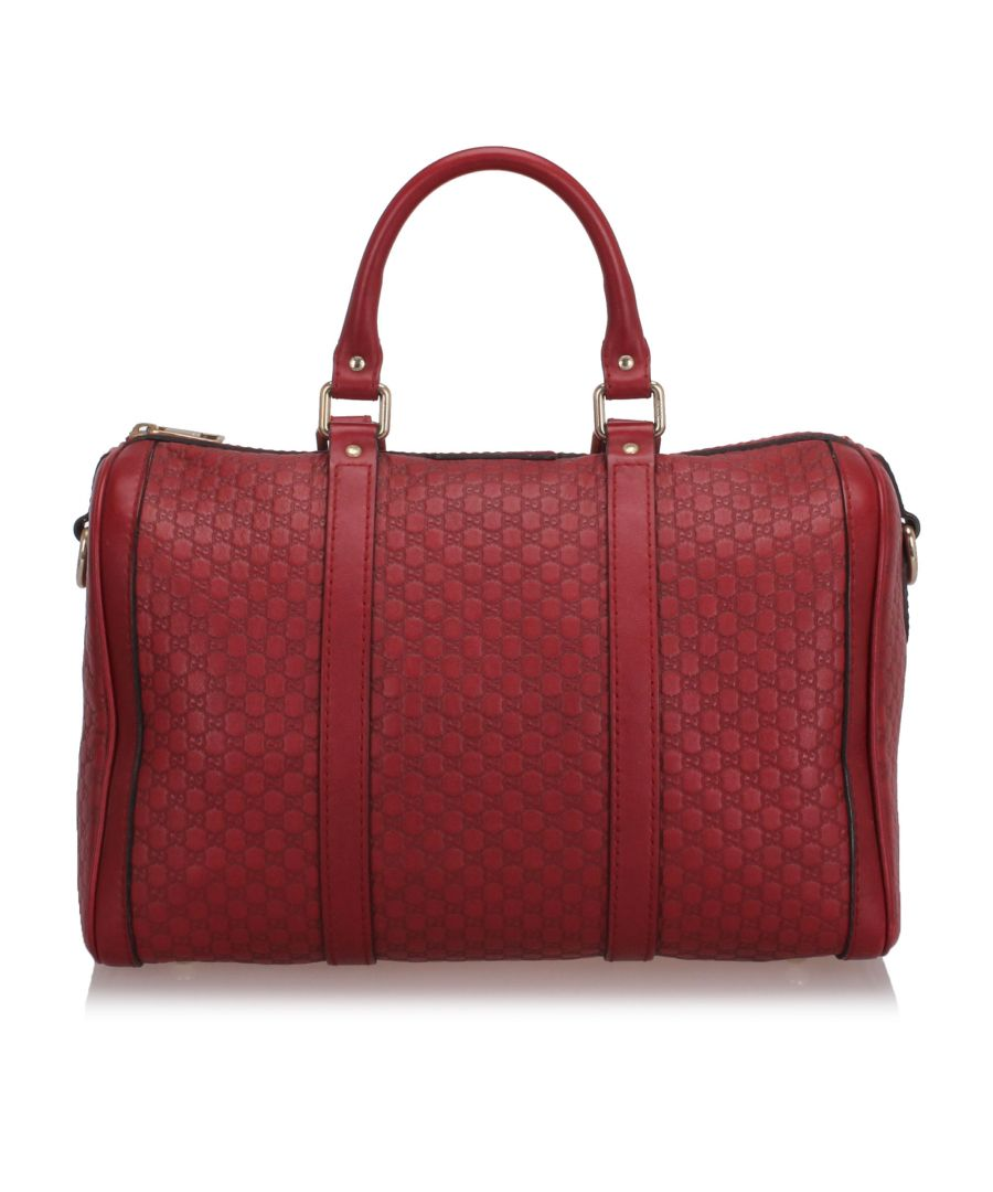 Image for Gucci Microguccissima Boston Bag Red