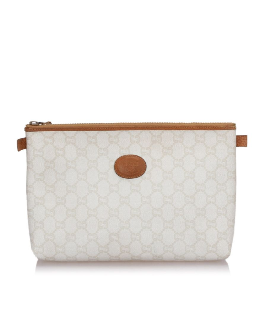 Image for Gucci GG Plus Clutch Bag White