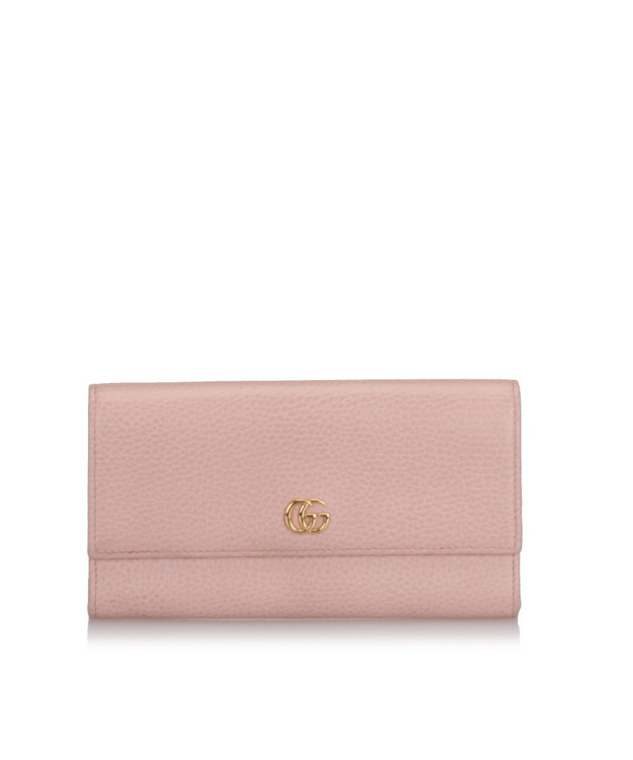 Image for Gucci GG Marmont Continental Wallet Pink