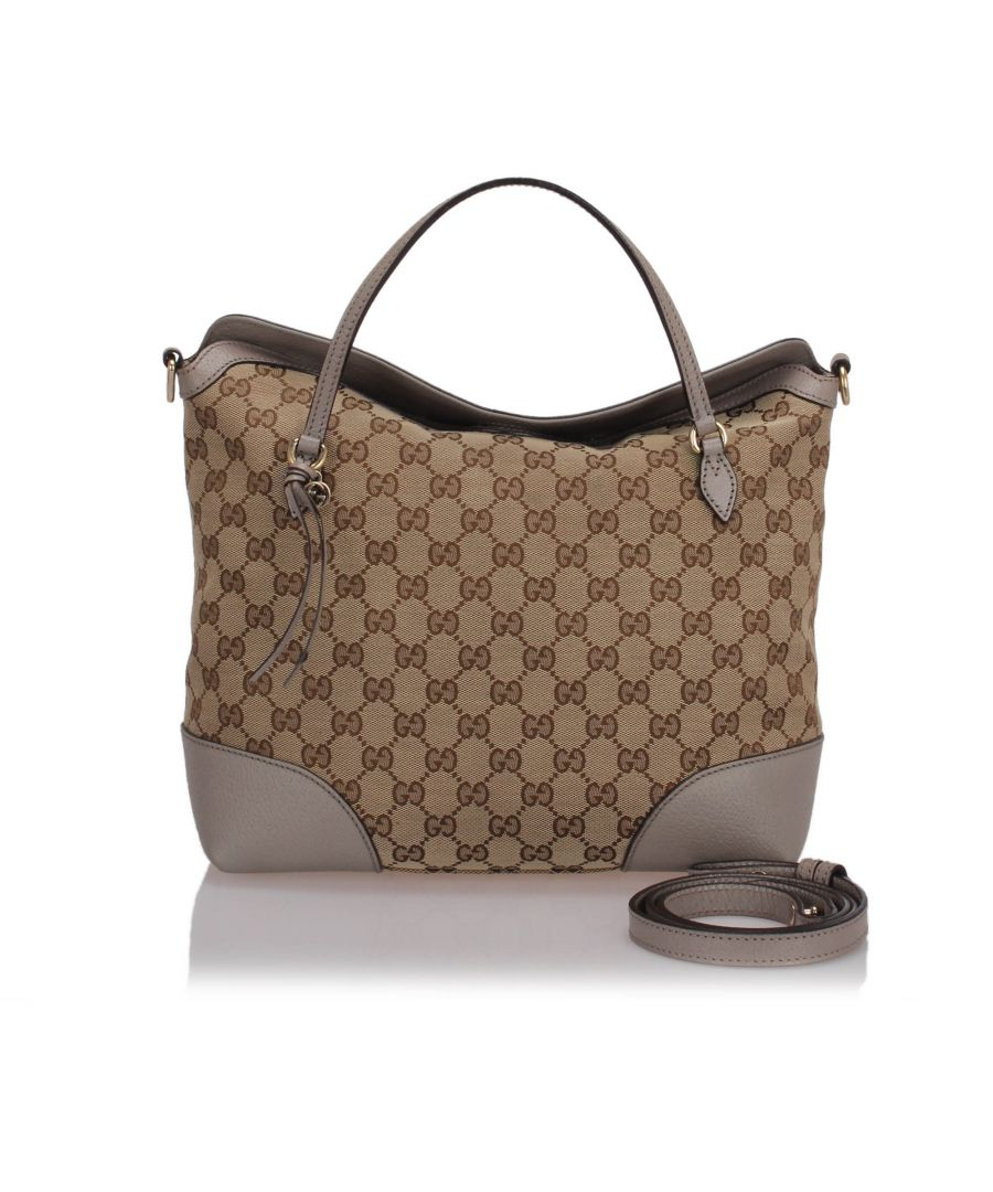 Image for Gucci GG Canvas Bree Satchel Brown