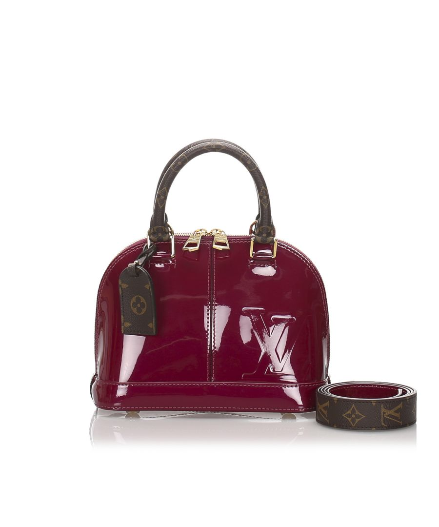 Image for Louis Vuitton Vernis Miroir Alma BB Red