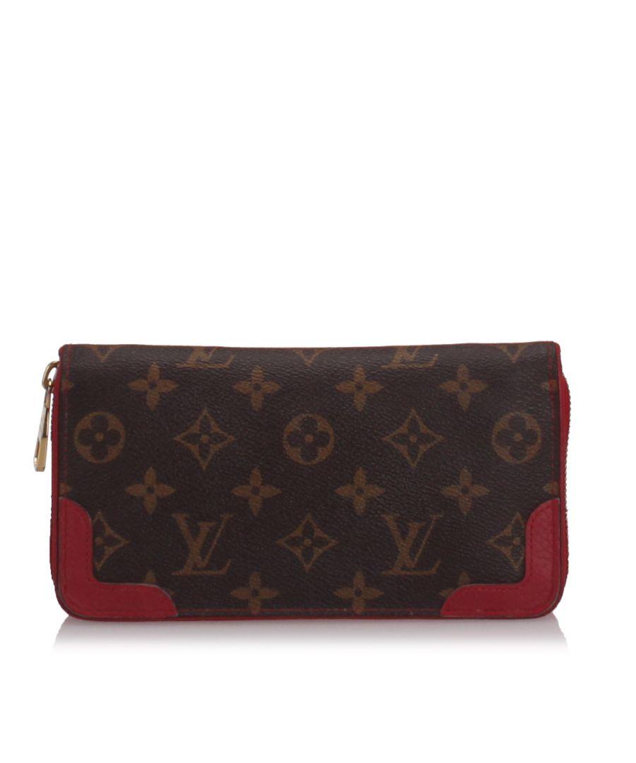 Image for Louis Vuitton Monogram Zippy Retiro Wallet Brown