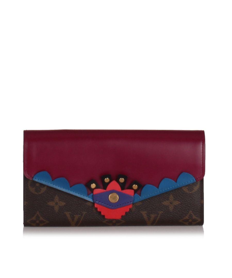 Image for Louis Vuitton Monogram Totem Sarah Wallet Brown