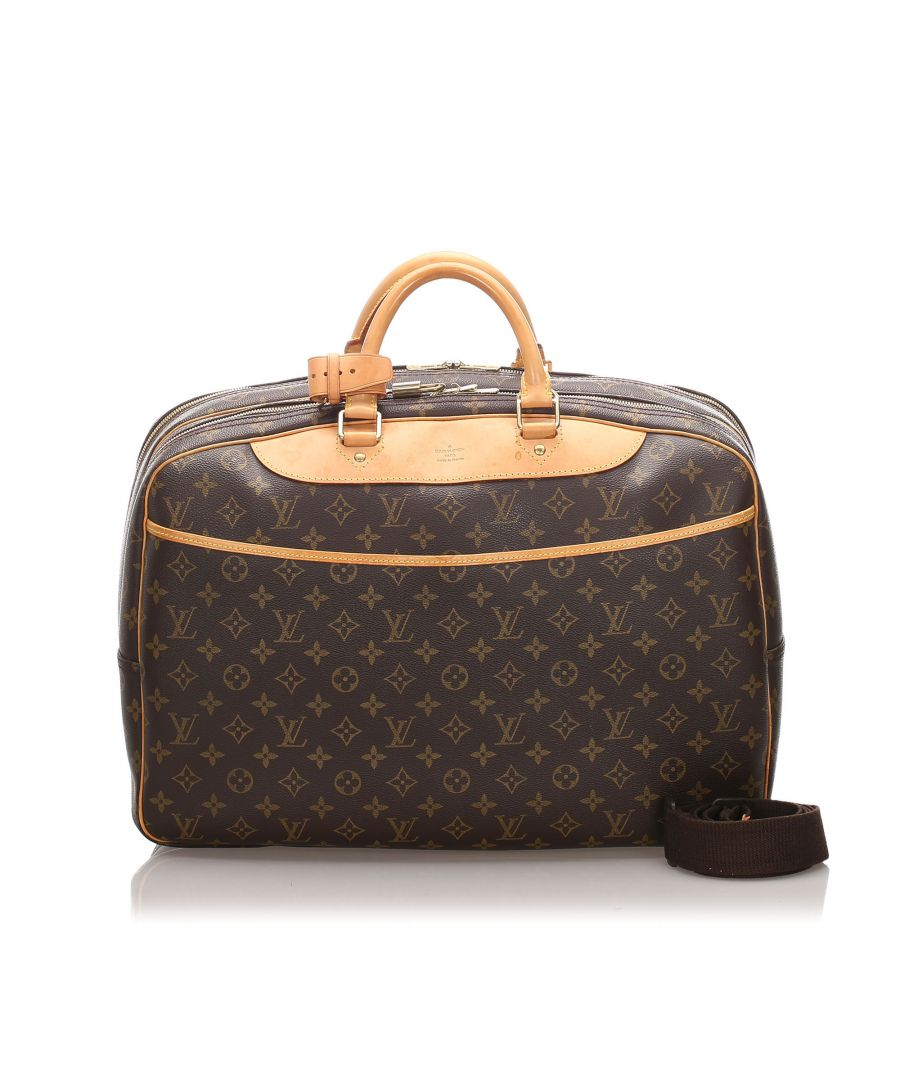 Image for Vintage Louis Vuitton Monogram Alize 24 Heures Brown