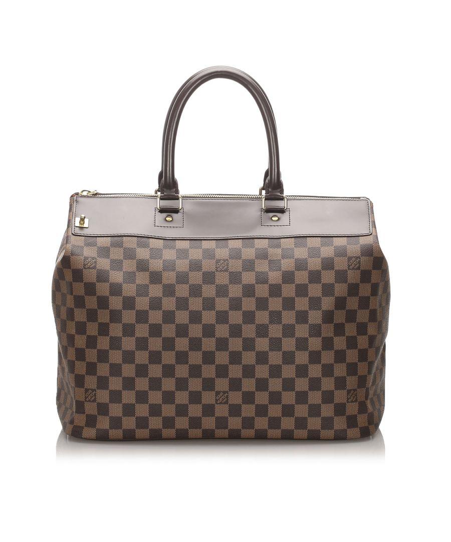 Image for Vintage Louis Vuitton Damier Ebene Greenwich PM Brown