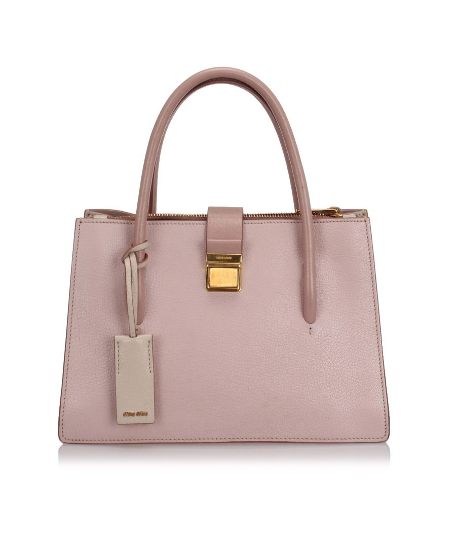Image for Miu Miu Madras Tote Bag Pink