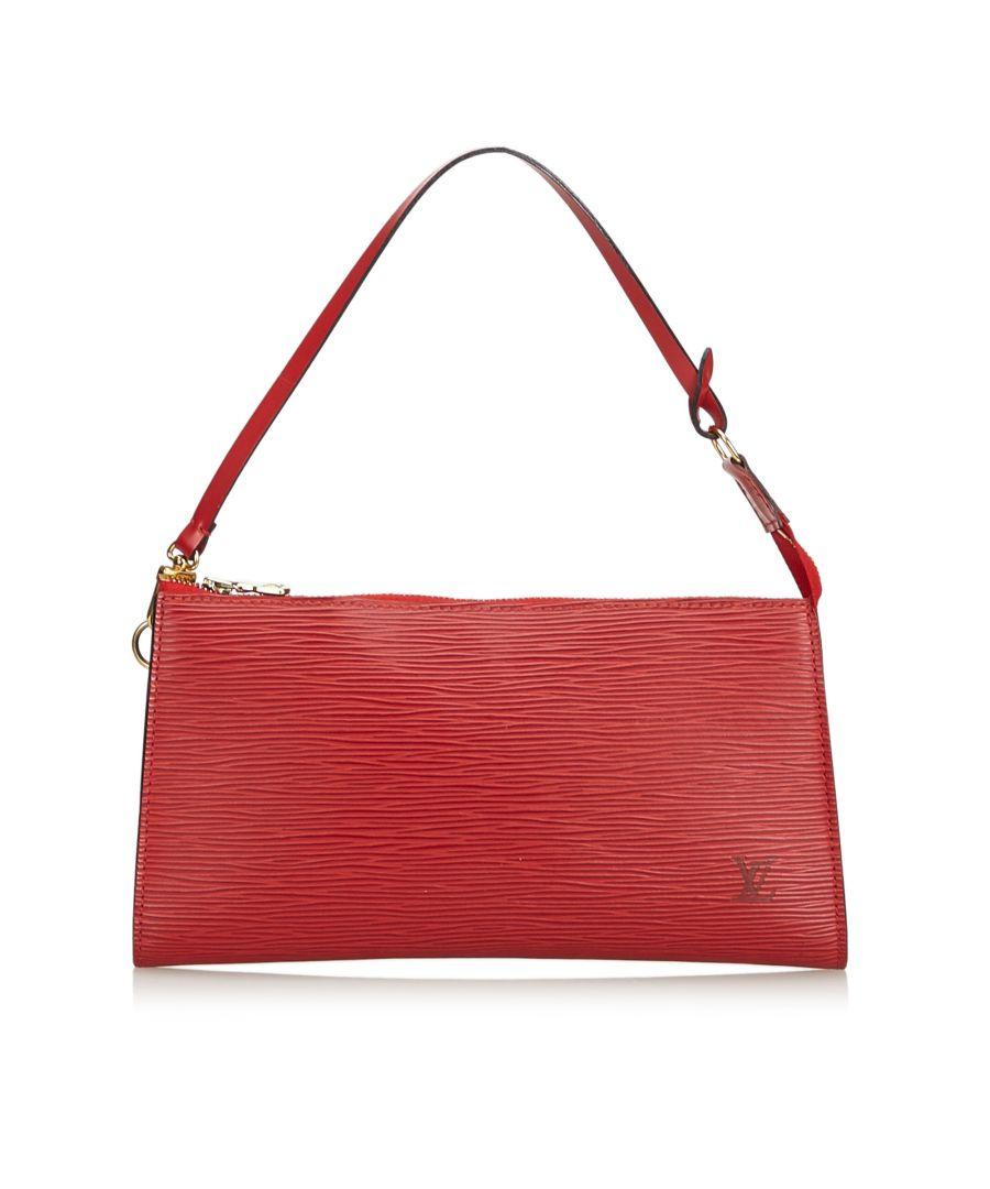 Image for Louis Vuitton Epi Pochette Accessoires Red