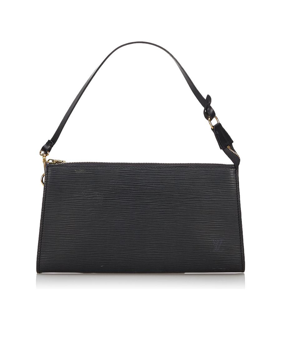 Image for Louis Vuitton Epi Pochette Accessoires Black