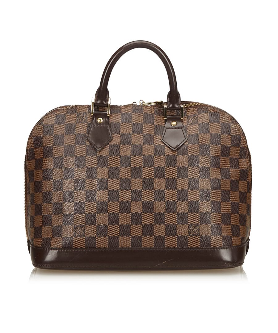 Image for Louis Vuitton Damier Ebene Alma PM Brown