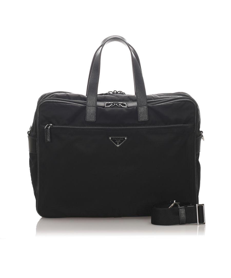 Image for Vintage Prada Tessuto Business Bag Black