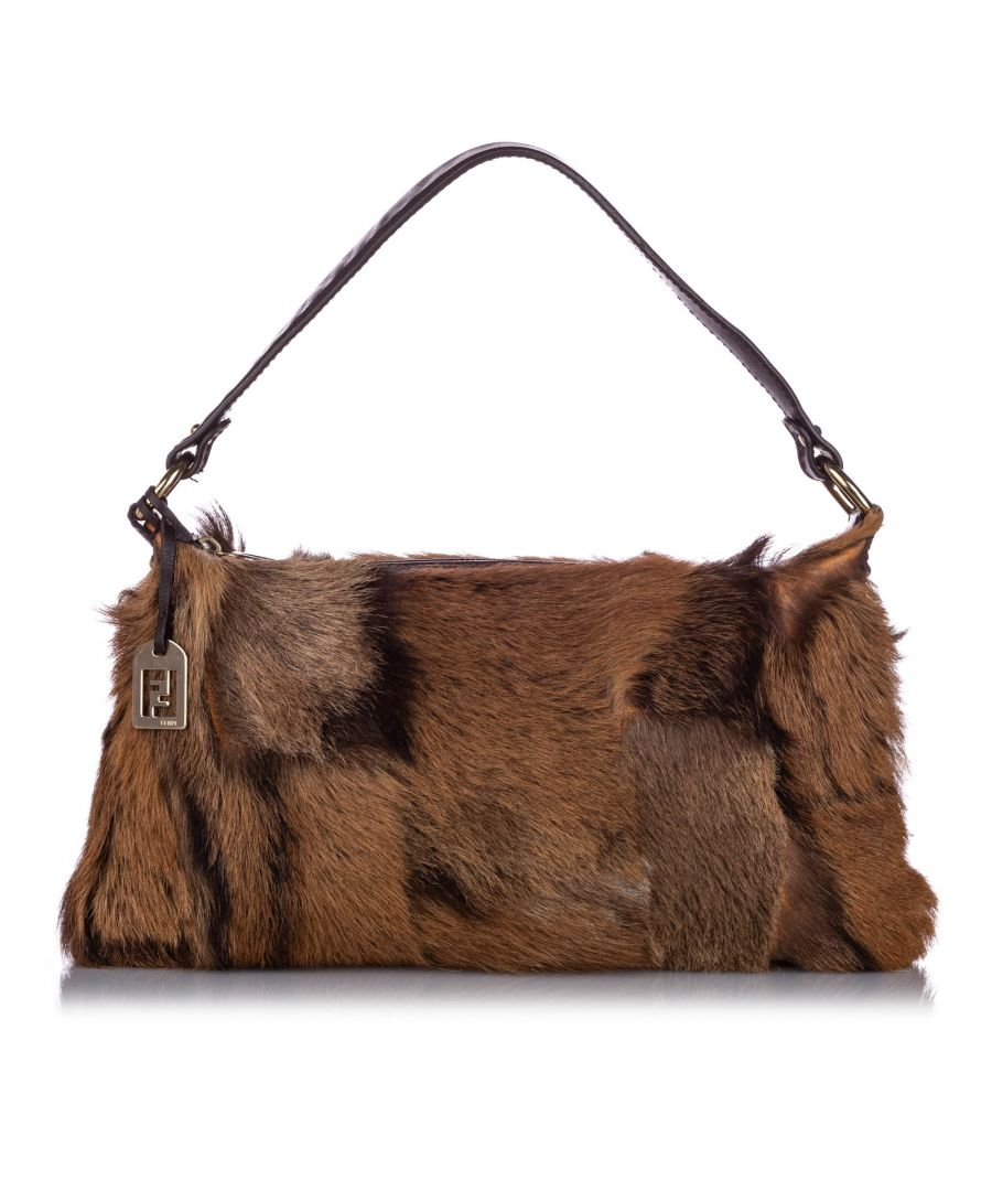 Image for Vintage Fendi Fur Baguette Brown