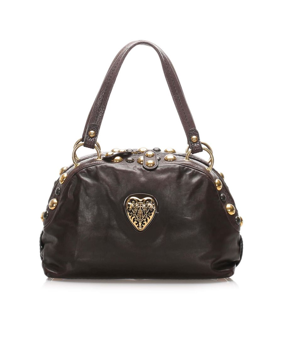 Image for Vintage Gucci Babouska Crest Dome Shoulder Bag Black