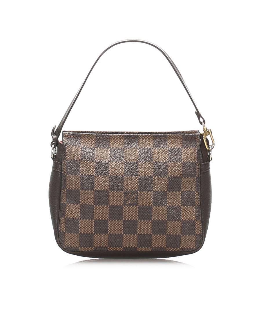 Image for Vintage Louis Vuitton Damier Ebene Trousse Pochette Brown