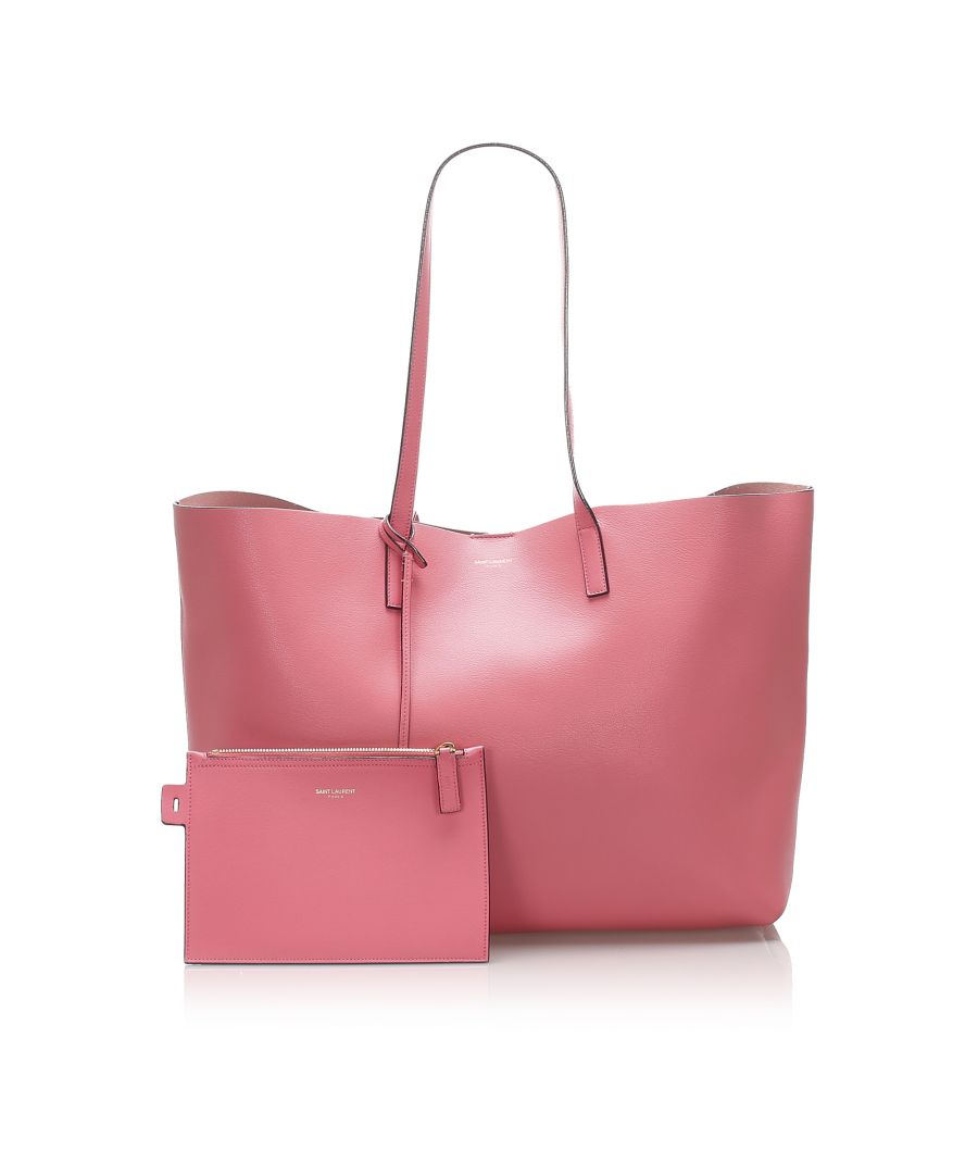 Image for Vintage YSL E/W Leather Tote Bag Pink