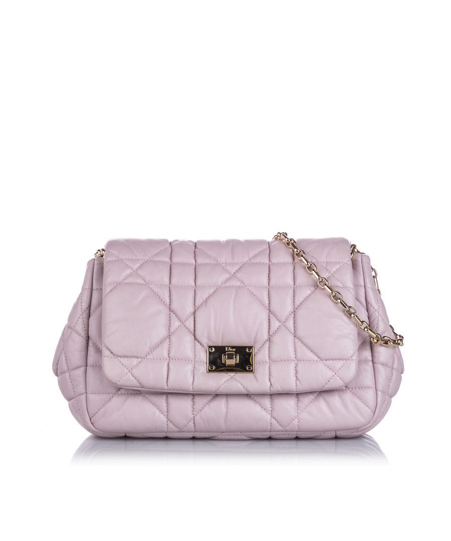Image for Vintage Dior Cannage Milly La Foret Shoulder Bag Pink