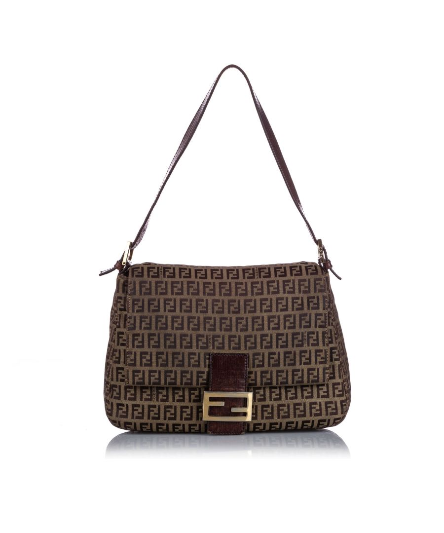 Image for Vintage Fendi Zucchino Canvas Mamma Forever Brown
