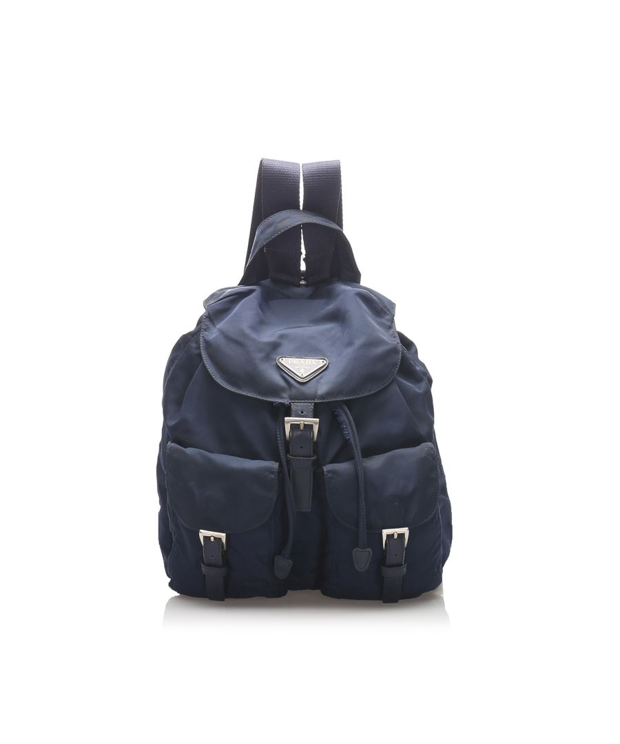 Image for Vintage Prada Tessuto Backpack Blue