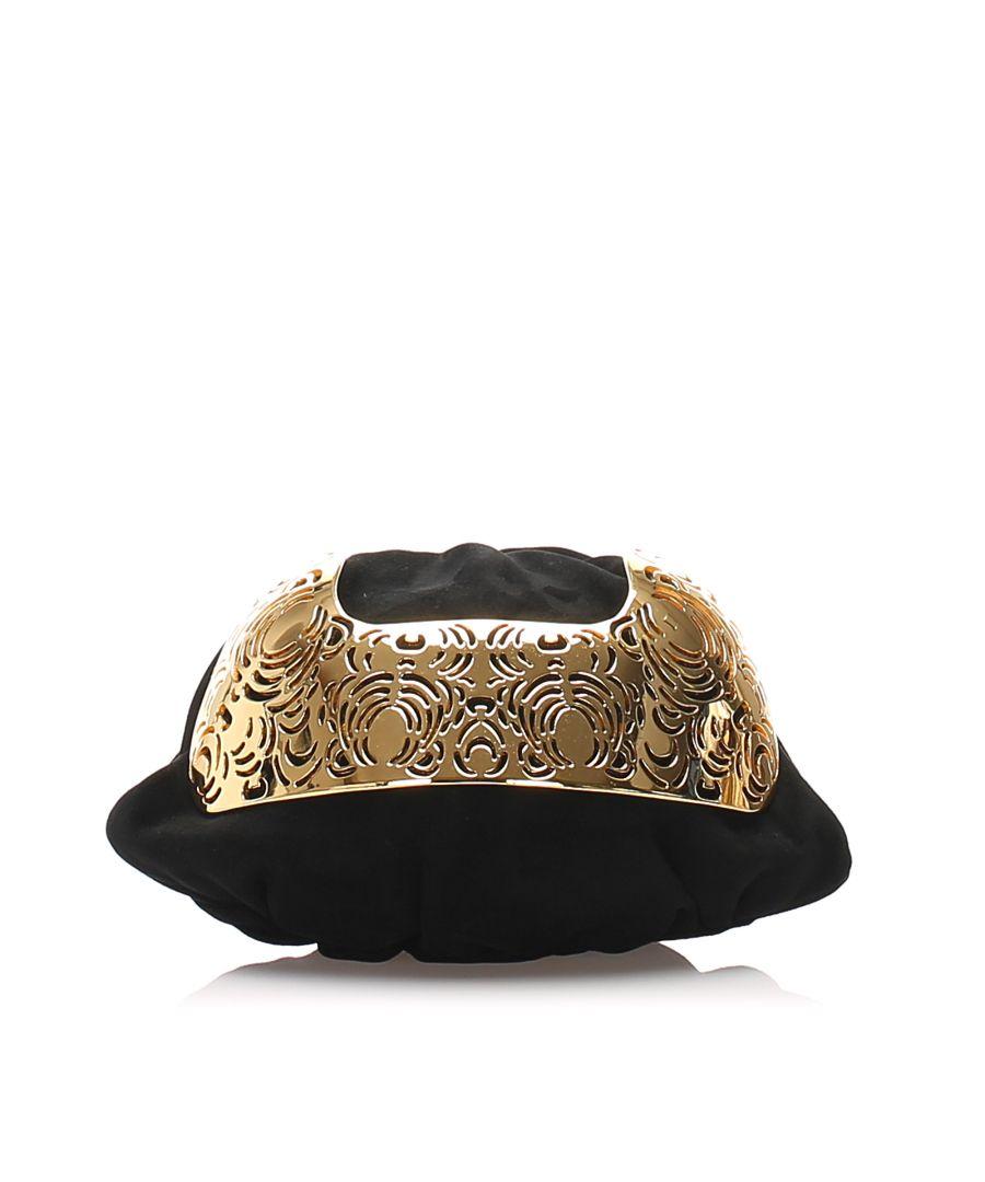 Image for Vintage YSL Suede Clutch Bag Black